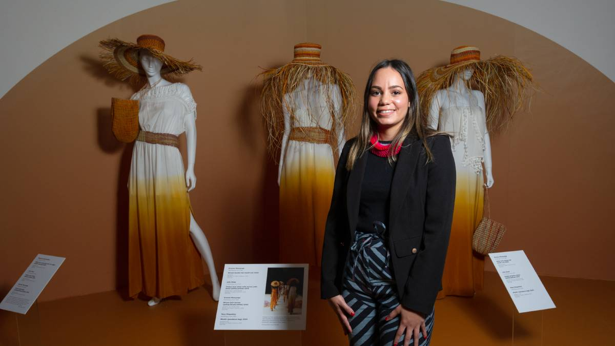 Shonae Hobson, curator of Piinpi: Contemporary Indigenous Fashion at the National Museum of Australia. Picture: Elesa Kurtz
