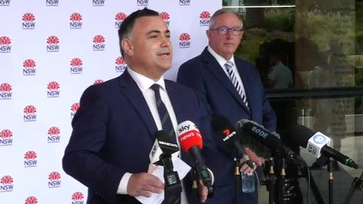 Acting NSW Premier John Barilaro gives an update on Friday morning.