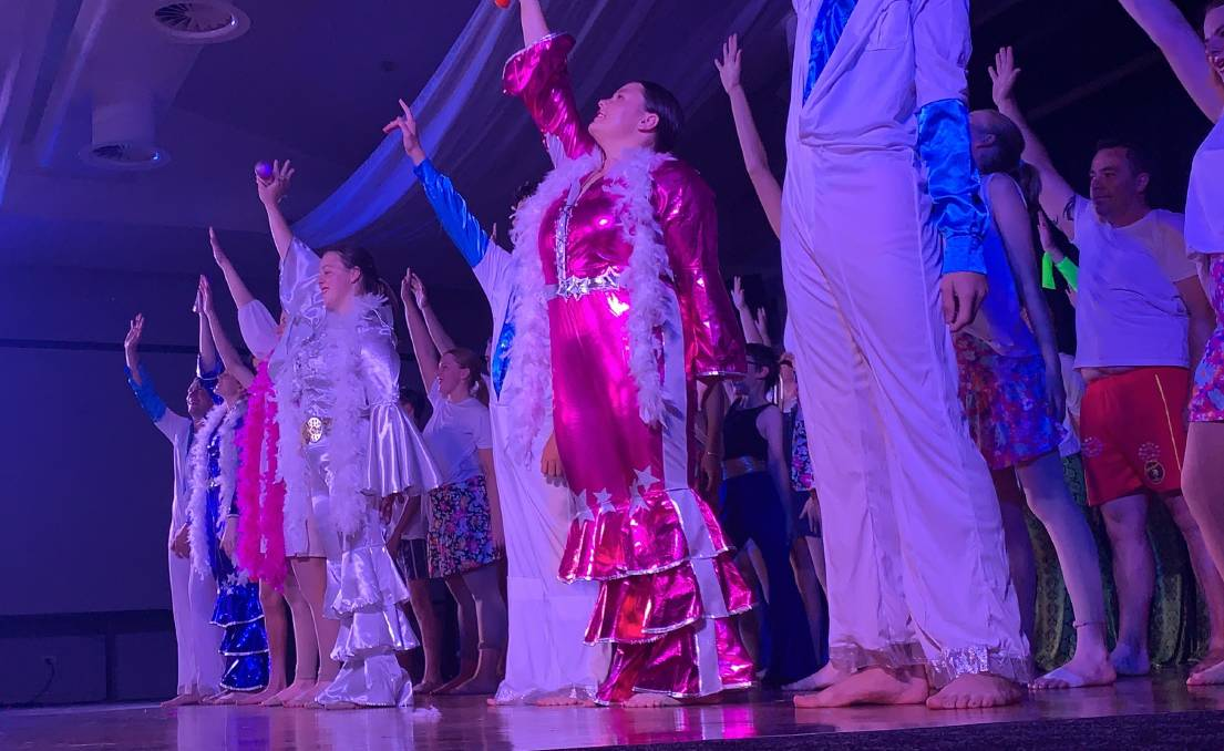 Dance 2590 presented Mamma Mia, here we go again to audiences at the Ex Services Club last weekend. Picture: Contributed